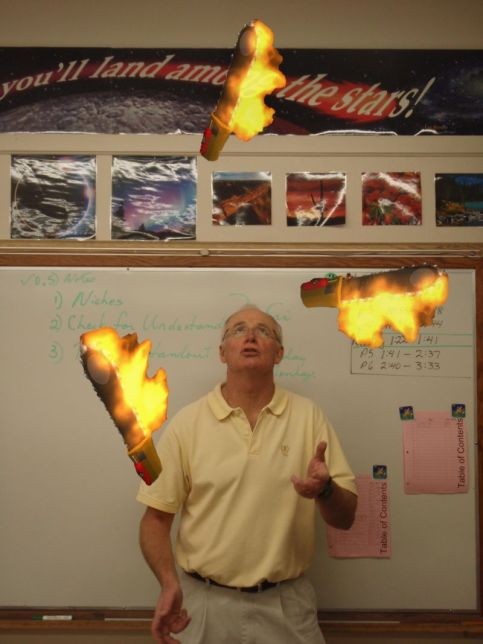 http://jockmackenzie.wordpress.com.  maybe the best part of this hard-to-find image is the fact that this guy is a teacher and juggled flaming chainsaws for his students...